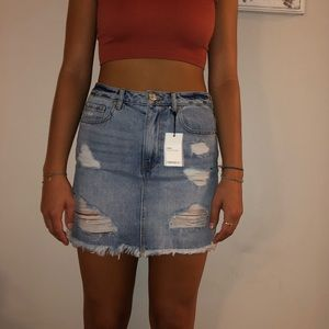 Forever 21 Denim Skirt New With Tags